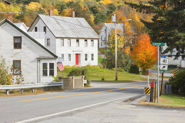 Maine Art Print featuring the photograph Vienna Maine In Fall by Keith Webber Jr
