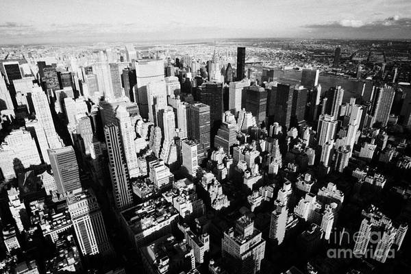 Usa Art Print featuring the photograph View North East Of Manhattan Queens East River From Observation Deck Empire State Building by Joe Fox