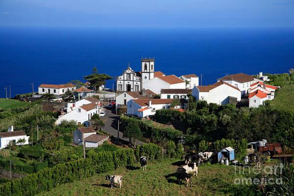 Pedreira Do Nordeste Art Print featuring the photograph Village In Azores Islands by Gaspar Avila