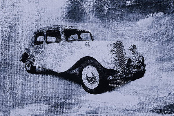 Vintage Art Print featuring the digital art Vintage Car by David Ridley