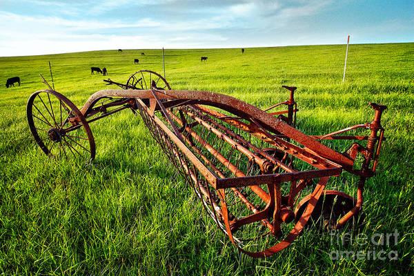 North Carolina Print featuring the photograph Vintage Farm Equipment I - Blue Ridge by Dan Carmichael