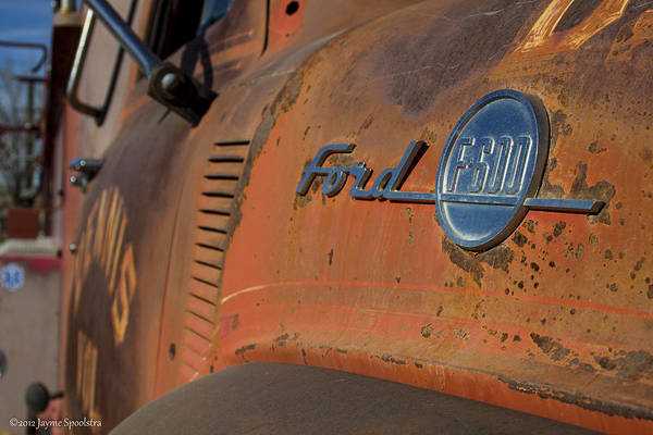 Ford Art Print featuring the photograph Vintage Ford by Jayme Spoolstra
