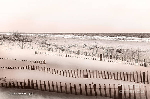 Virgina Beach Vacation Memories Print featuring the photograph Virgina Beach Vacation Memories by Artist and Photographer Laura Wrede