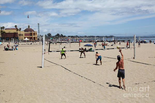 California Art Print featuring the photograph Volleyball At The Santa Cruz Beach Boardwalk California 5d23837 by Wingsdomain Art and Photography