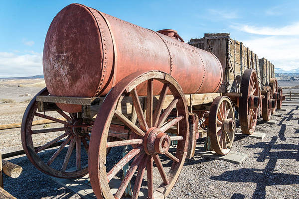 20 Mule Team Art Print featuring the photograph Wagons In The Sun by Marc Novell