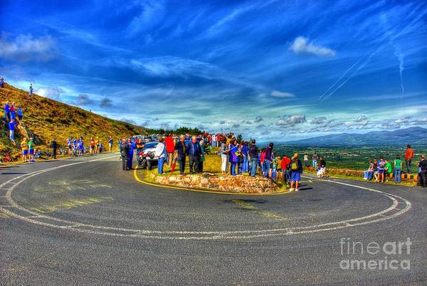 Hdr Art Print featuring the photograph Waiting For The Cycle Race by Joe Cashin