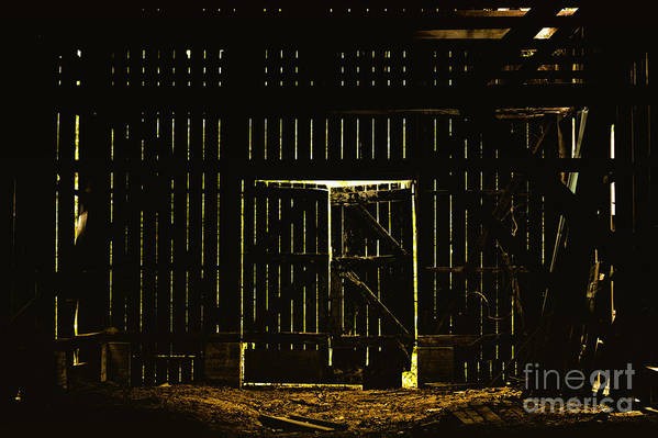 Barn Art Print featuring the photograph Walking Dead by Andrew Paranavitana