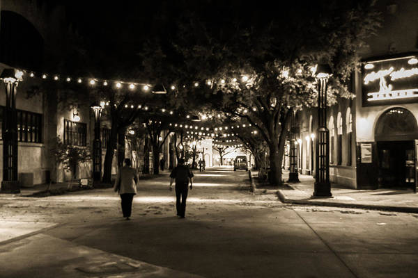Walking Art Print featuring the photograph Walking In The Stockyards by Matt Johnson