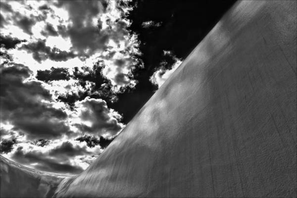 Wall Art Print featuring the photograph Wall Sky And Clouds by Robert Ullmann