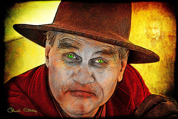 Evil Art Print featuring the photograph Wanna Be Friends? by Chuck Staley