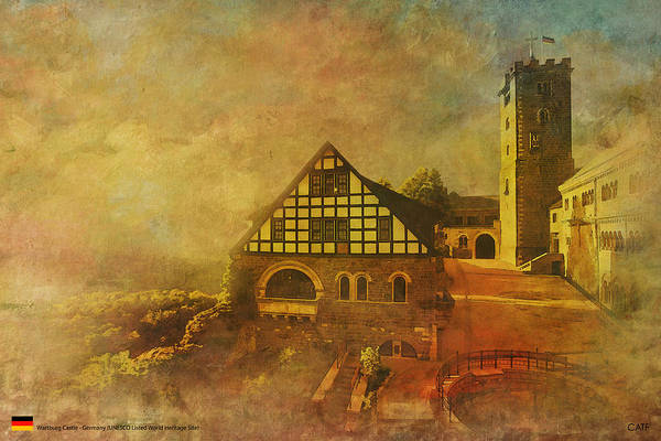 Museum Art Print featuring the painting Wartburg Castle by Catf