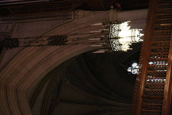 Alter Art Print featuring the photograph Washington National Cathedral - Washington Dc - 0113103 by DC Photographer