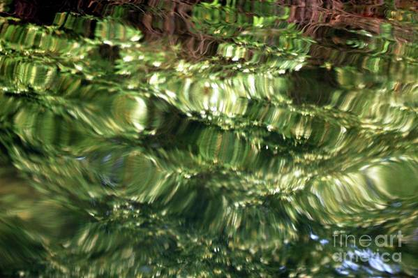 Water Art Print featuring the photograph Water Abstract by Kathleen Struckle