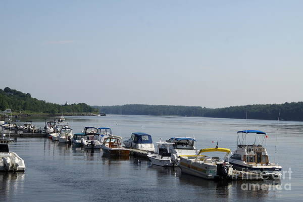 Kennebec River Art Print featuring the photograph Waterfront Park Bath Maine by Christiane Schulze Art And Photography