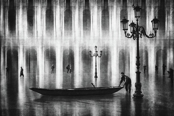 Venice Art Print featuring the photograph Watertaxi by Roswitha Schleicher-schwarz