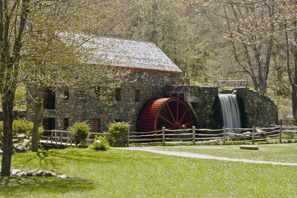 Wayside Grist Mill Art Print featuring the photograph Wayside Grist Mill 6 by Dennis Coates