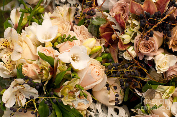 Wedding Art Print featuring the photograph Wedding Bouquets 01 by Rick Piper Photography