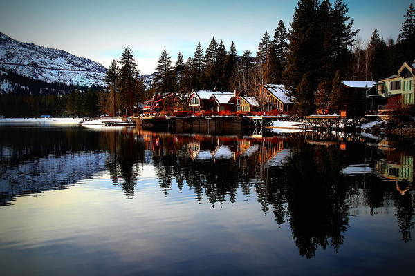Donner Lake Art Print featuring the photograph West End Of Donner Lake by Garrett Nyland