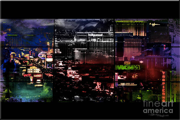 Las Vegas Art Print featuring the mixed media What Happens In Vegas... by Christine Mayfield