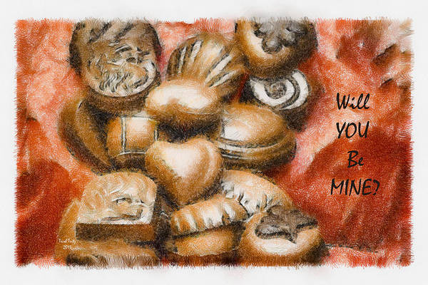 Candy Art Print featuring the mixed media Will You Be Mine by Trish Tritz