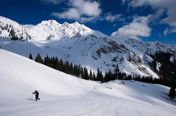 Mountains Art Print featuring the photograph Wind And Snow by Bogdan Dan
