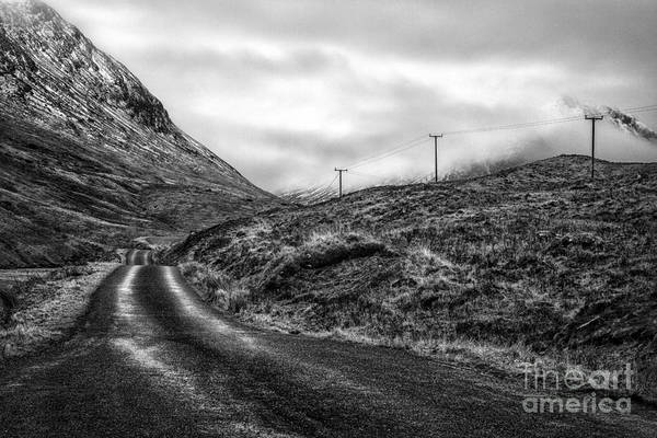 Beautiful Scotland Art Print featuring the photograph Winding Road In Glen Etive by John Farnan