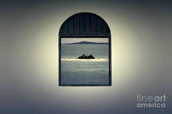 Puerto Rico Art Print featuring the digital art Window View Of Desert Island Puerto Rico Prints Lomography by Shawn O'Brien