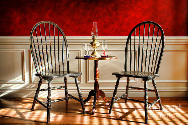 Windsor Art Print featuring the photograph Windsor Chairs by Olivier Le Queinec