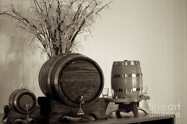 Wine Service Art Print featuring the photograph Wine Barrels by Alanna DPhoto