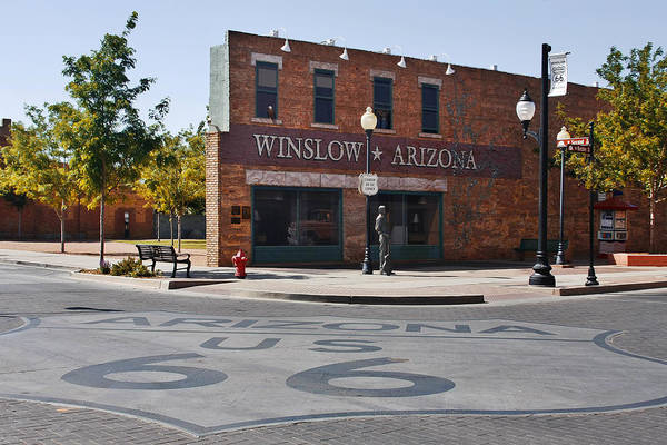 Famous Art Print featuring the photograph Winslow Arizona - Such A Fine Sight To See by Christine Till