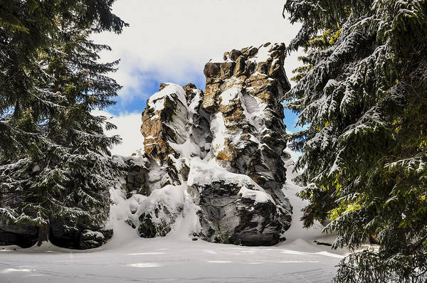 Sunny Art Print featuring the photograph Winter At The Stony Summit by Aged Pixel