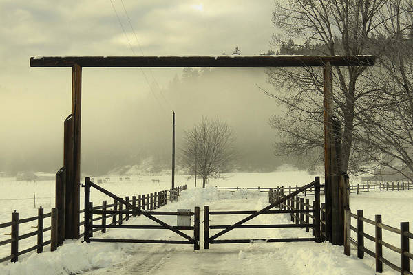 Gates Art Print featuring the photograph Winter I by Wendy Raatz Photography