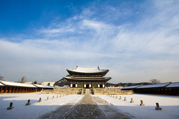 Korea Art Print featuring the photograph Winter In The Palace by Alex Barlow