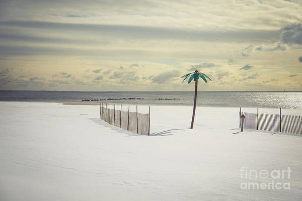 Coney Island Art Print featuring the photograph Winter Paradise by Evelina Kremsdorf