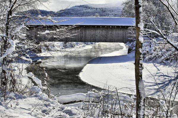 Brook Art Print featuring the photograph Winter Scene In Montgomery by Deborah Benoit