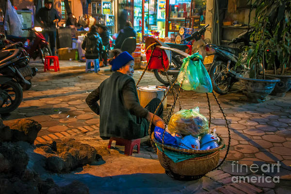 Hanoi Art Print featuring the photograph Woman At Rest by Roberta Bragan