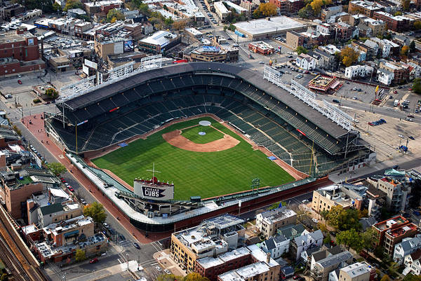 Chicago Cubs Art Print featuring the photograph Wrigley Field Chicago Sports 02 by Thomas Woolworth