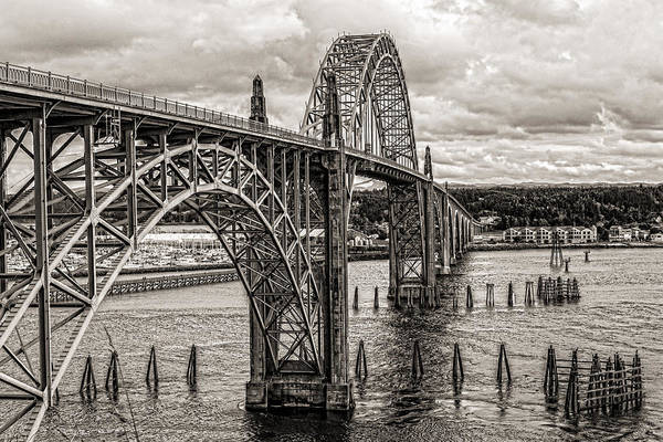Yaquina Bay Bridge Art Print featuring the photograph Yaquina Bay Bridge by Thomas J Rhodes