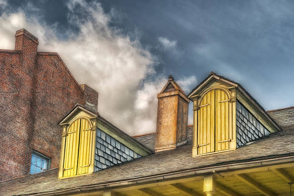 Dormer Art Print featuring the photograph Yellow Dormers by Brenda Bryant