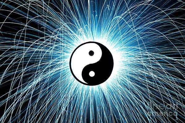 Yin Yang Art Print featuring the photograph Yin Yang by Tim Gainey