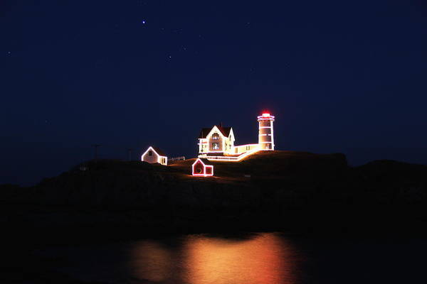Nubble Lighthouse Art Print featuring the photograph York Light by Andrea Galiffi