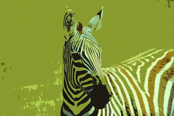 Kenya Art Print featuring the digital art Zebra by Ronald Jansen
