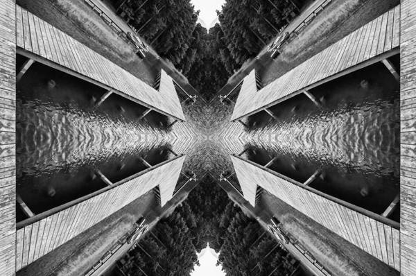 Architecture Art Print featuring the photograph Zigzag Pier Illusion D by Yevgeni Kacnelson