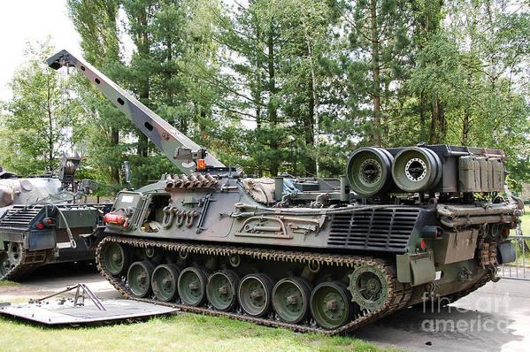 Artillery Art Print featuring the photograph A Leopard 1a5 Mbt Of The Belgian Army by Luc De Jaeger