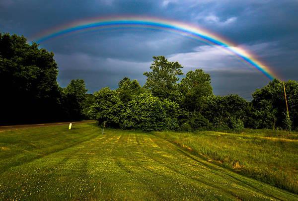 Art Print featuring the photograph Backyard Rainbow by Brian Stevens
