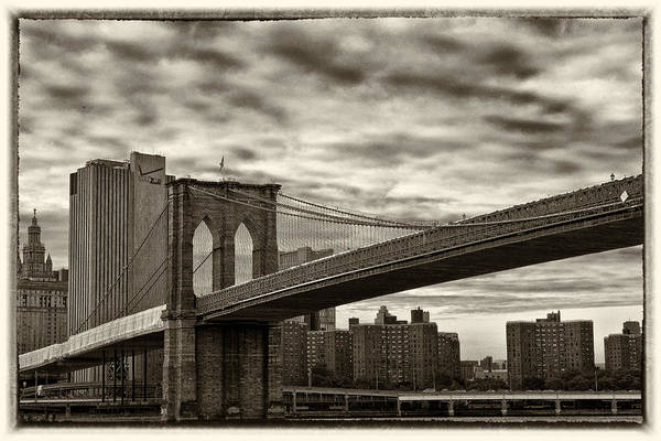 Brooklyn Bridge Art Print featuring the photograph Brooklyn Bridge by Roni Chastain
