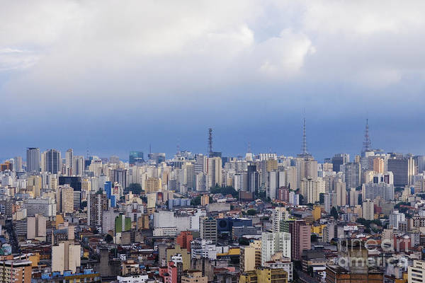 Apartment Print featuring the photograph Buildings Of Downtown Sao Paulo by Jeremy Woodhouse