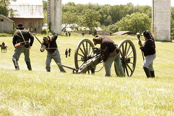 Canon Art Print featuring the photograph Civil War Reenactment by Alexis McAfee
