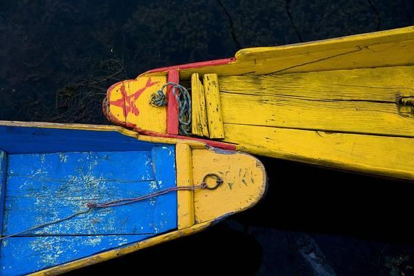 Boat Art Print featuring the photograph Colorful Boats, Srinagar, Dal Lake by David DuChemin