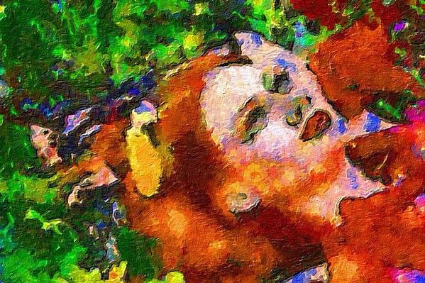 Impressionist Fashion Painting Art Print featuring the painting Fashion 75 by Jacques Silberstein